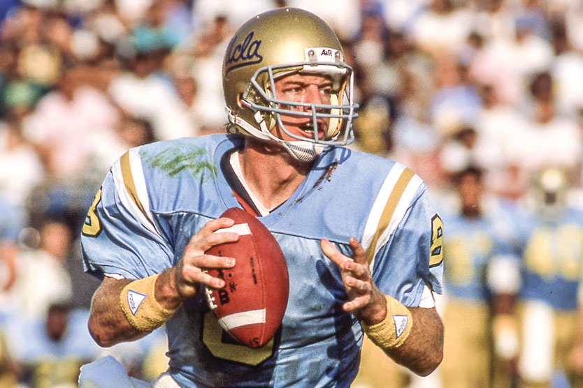 Troy Aikman on the field