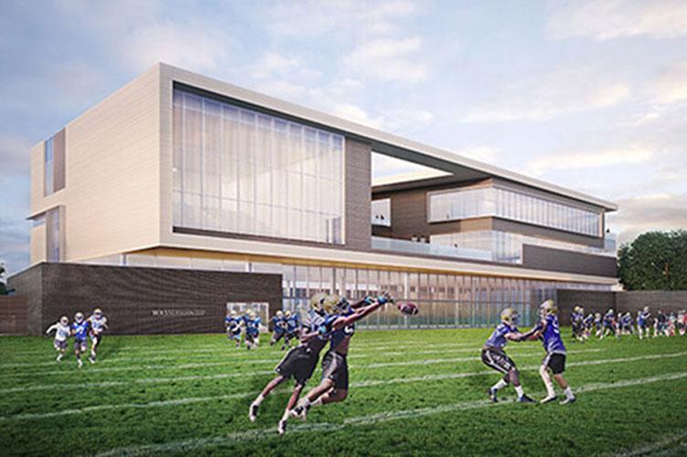 Rendering of Wasserman Football Center