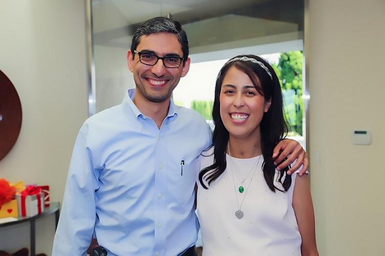 Posed shot of Dr. Fady Kaldas and Kelly Lee Tarantello